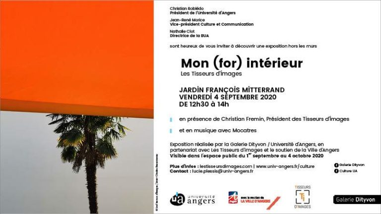 flyer pour l'exposition Mon (for) intérieur